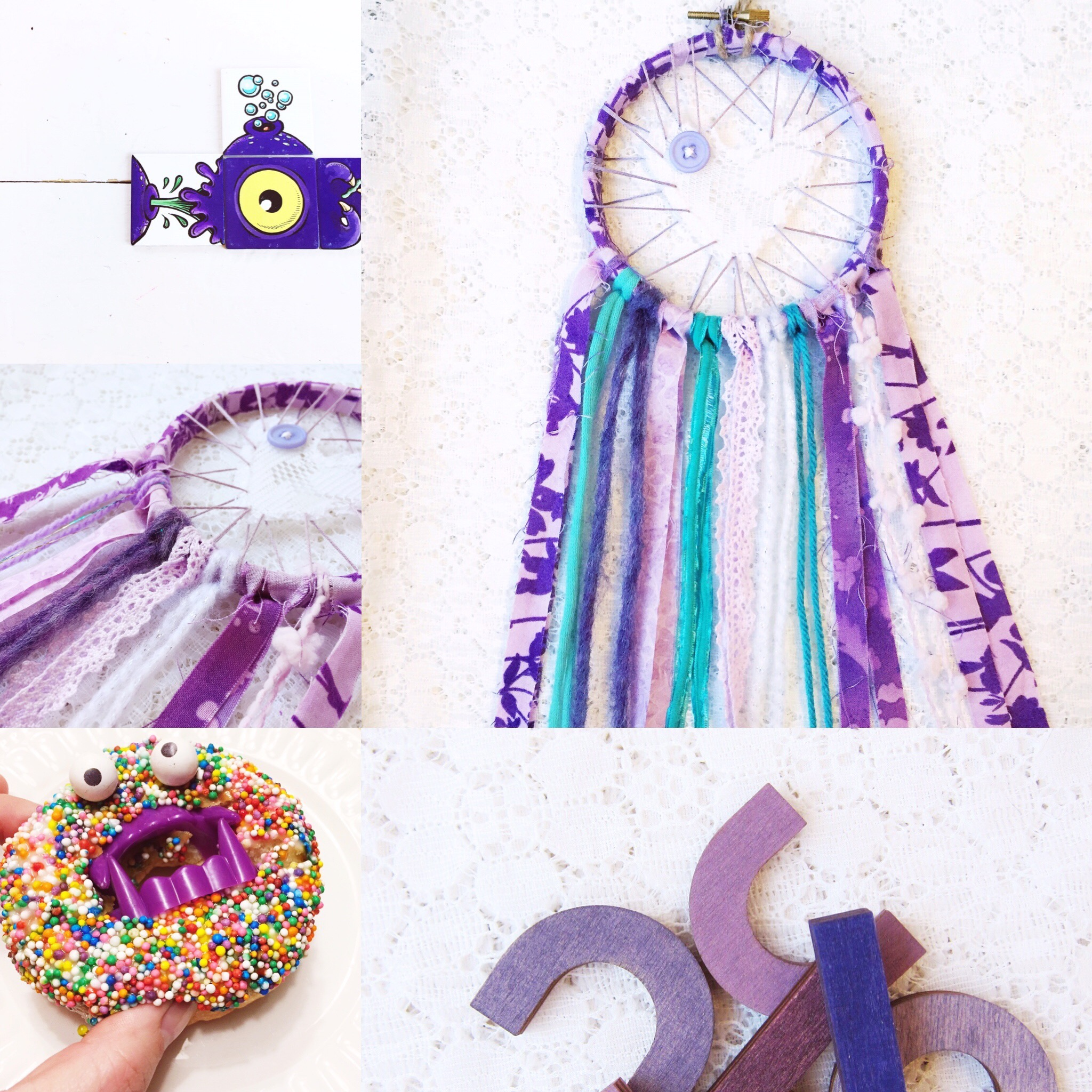 Weekly Color Inspiration ~ By Bubblegum Sass ~ Purple Monster ~ Inspo for kids room decor