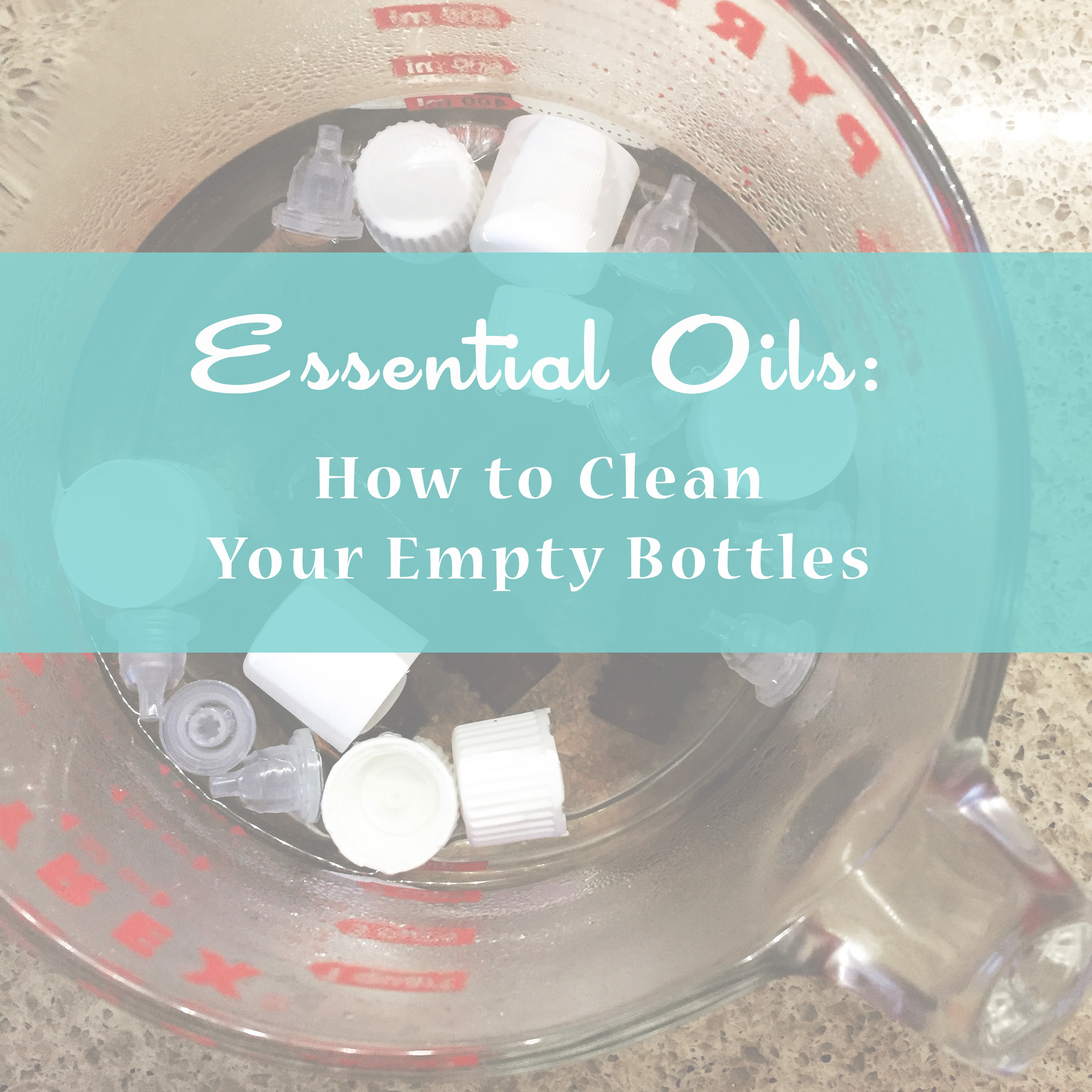 Living With Essential Oils: How to Clean Your Empty Bottles ~ DIY Blog post by Bubblegum Sass
