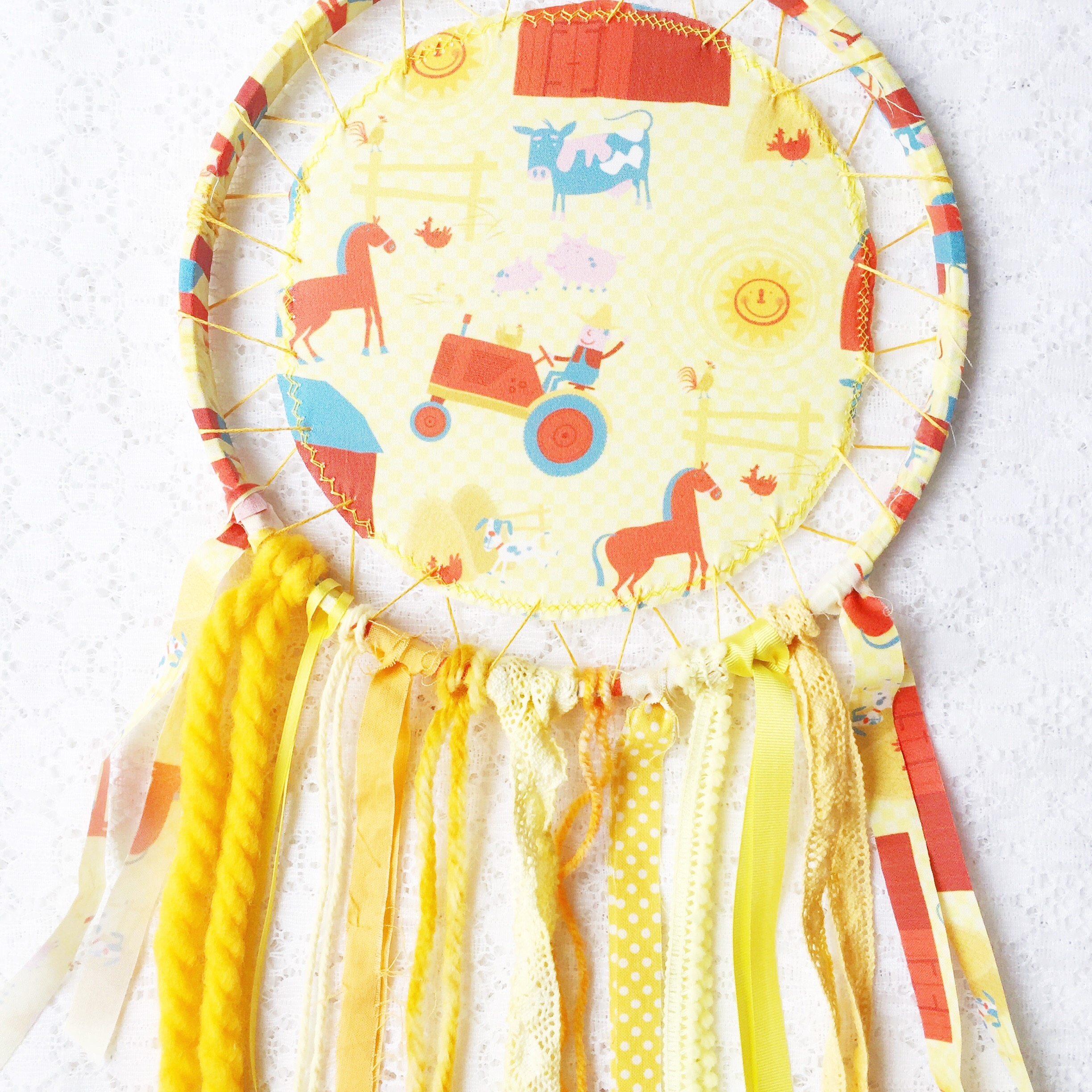 In the Shop: Farm Fun ~ Dreamcatchers by Bubblegum Sass on Etsy ~ Nursery and Kids Room Decor