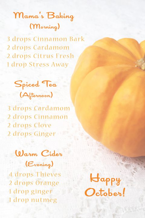Living With Essential Oils: October Blends. Fall diffuser blends with free downloadable recipes!