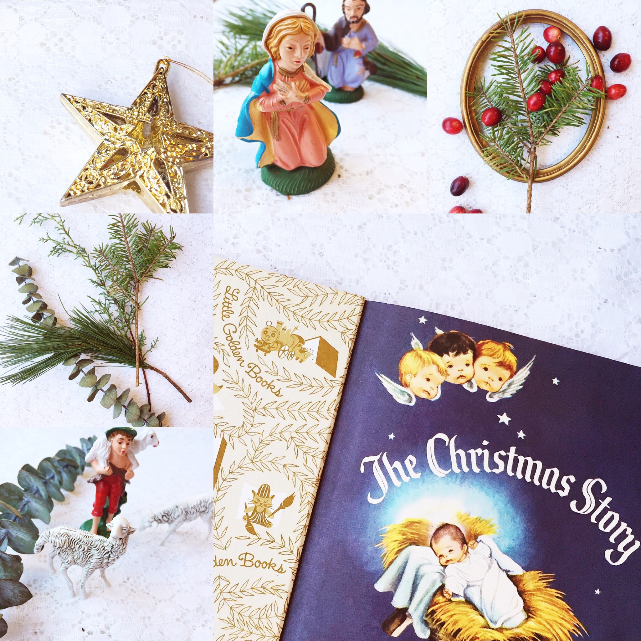 Weekly Color Inspiration: The Christmas Story - Vintage Nativity and Advent