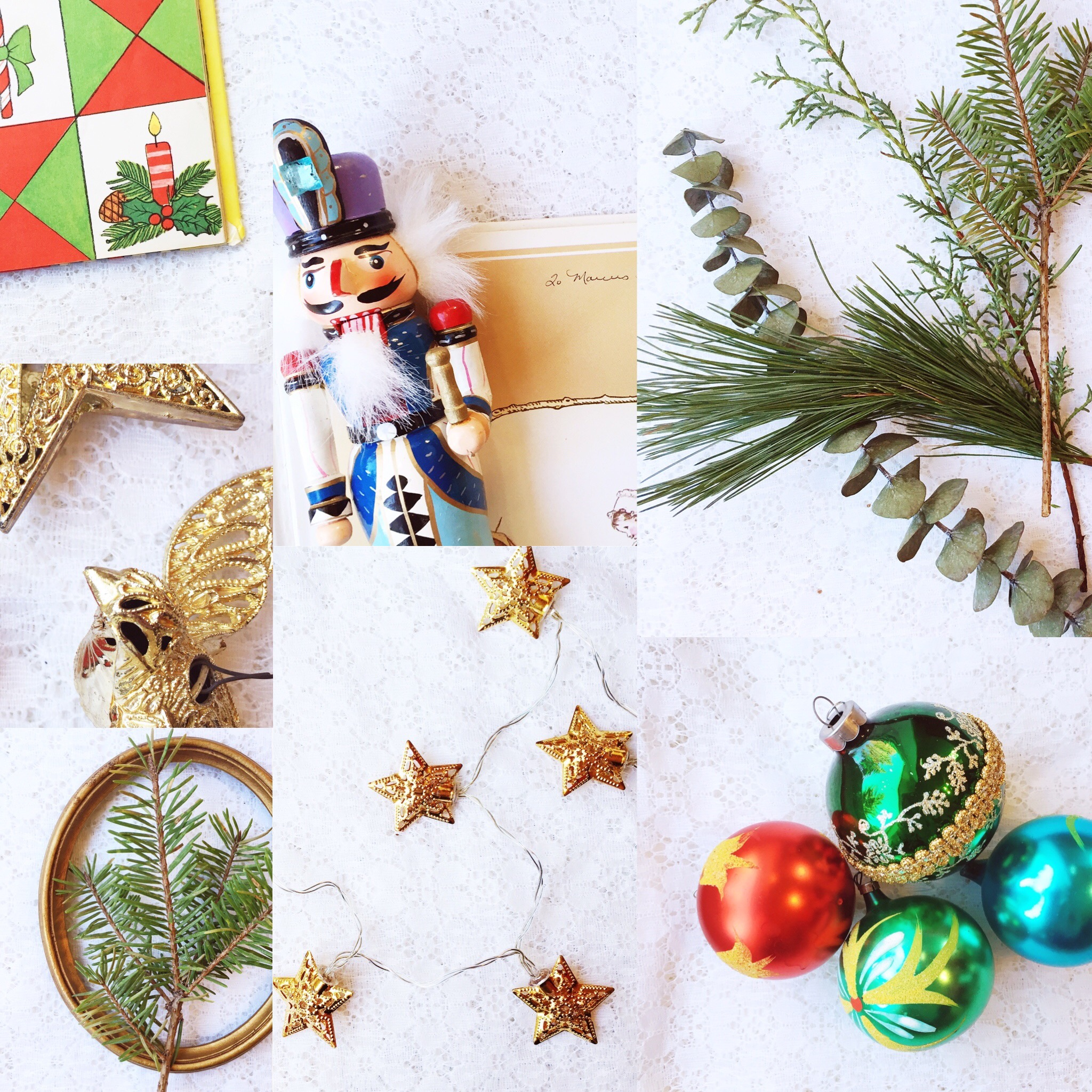 Weekly Color Inspiration: Holiday Rainbow - Christmas Inspo in Green & Gold