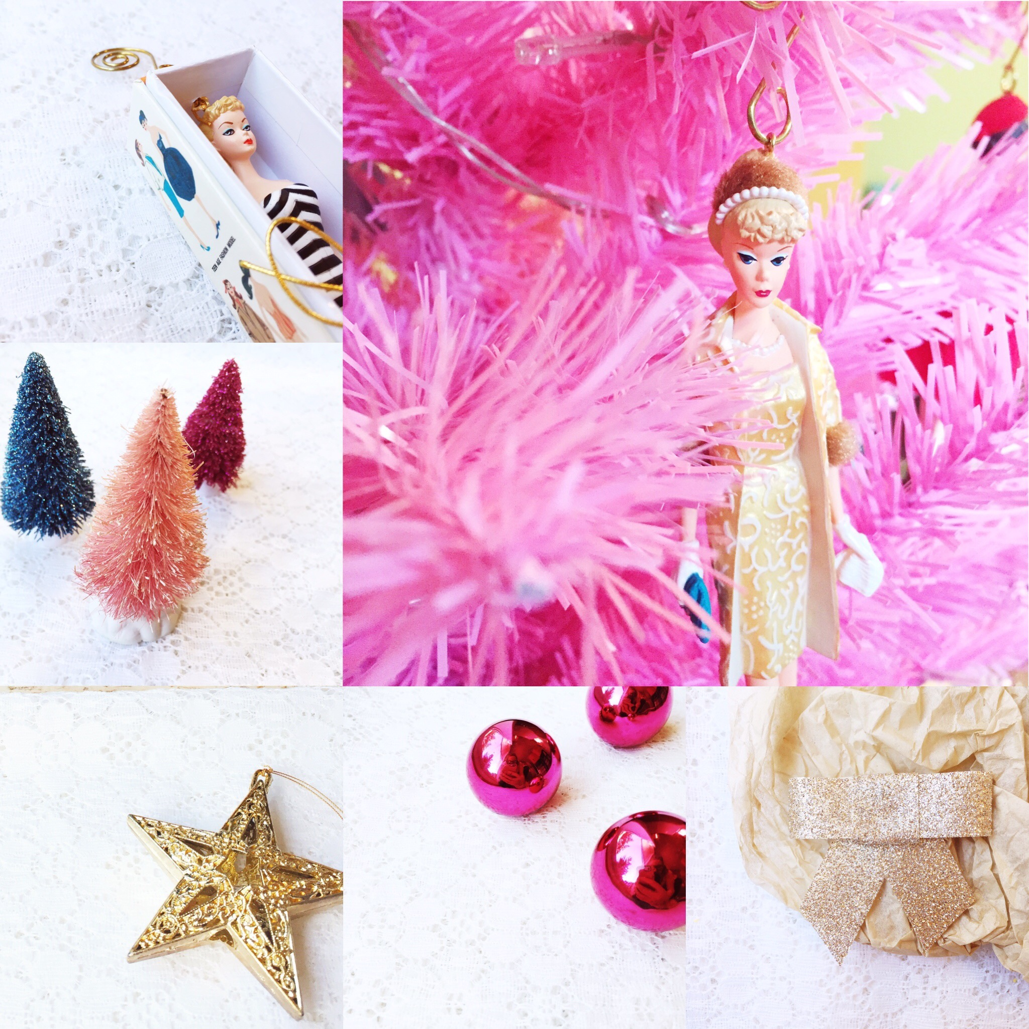 Weekly Color Inspiration: Holiday Rainbow - Christmas Inspo in Barbie Pink & Gold