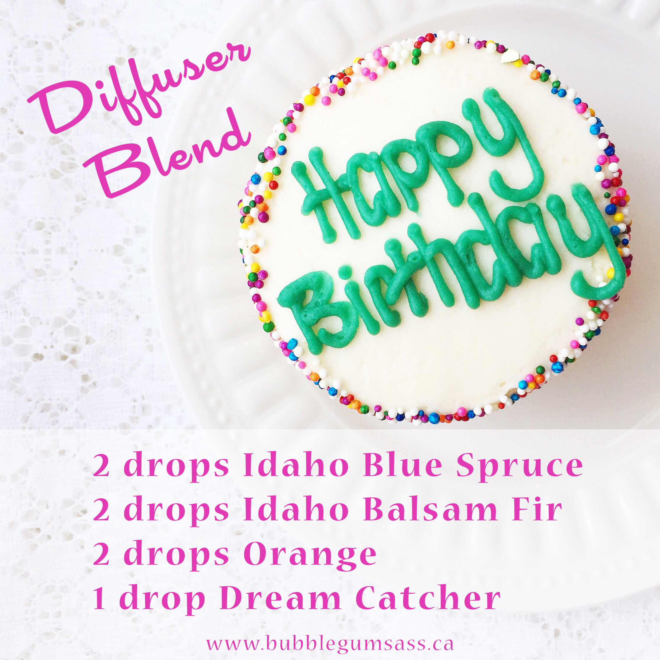Living With Essential Oils: Birthday Diffuser Blend