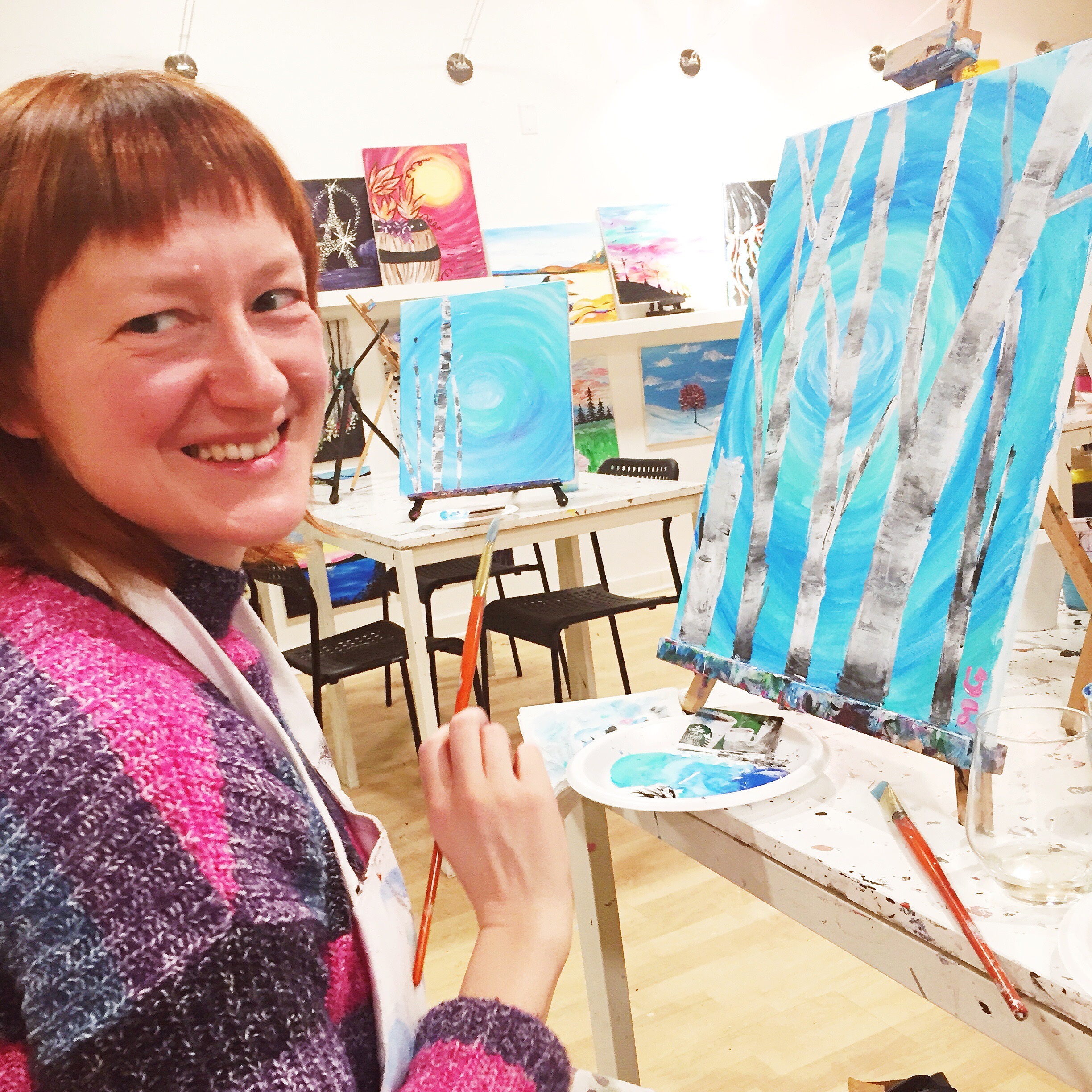 Around Town: Paint Nite - Mom's Night Out
