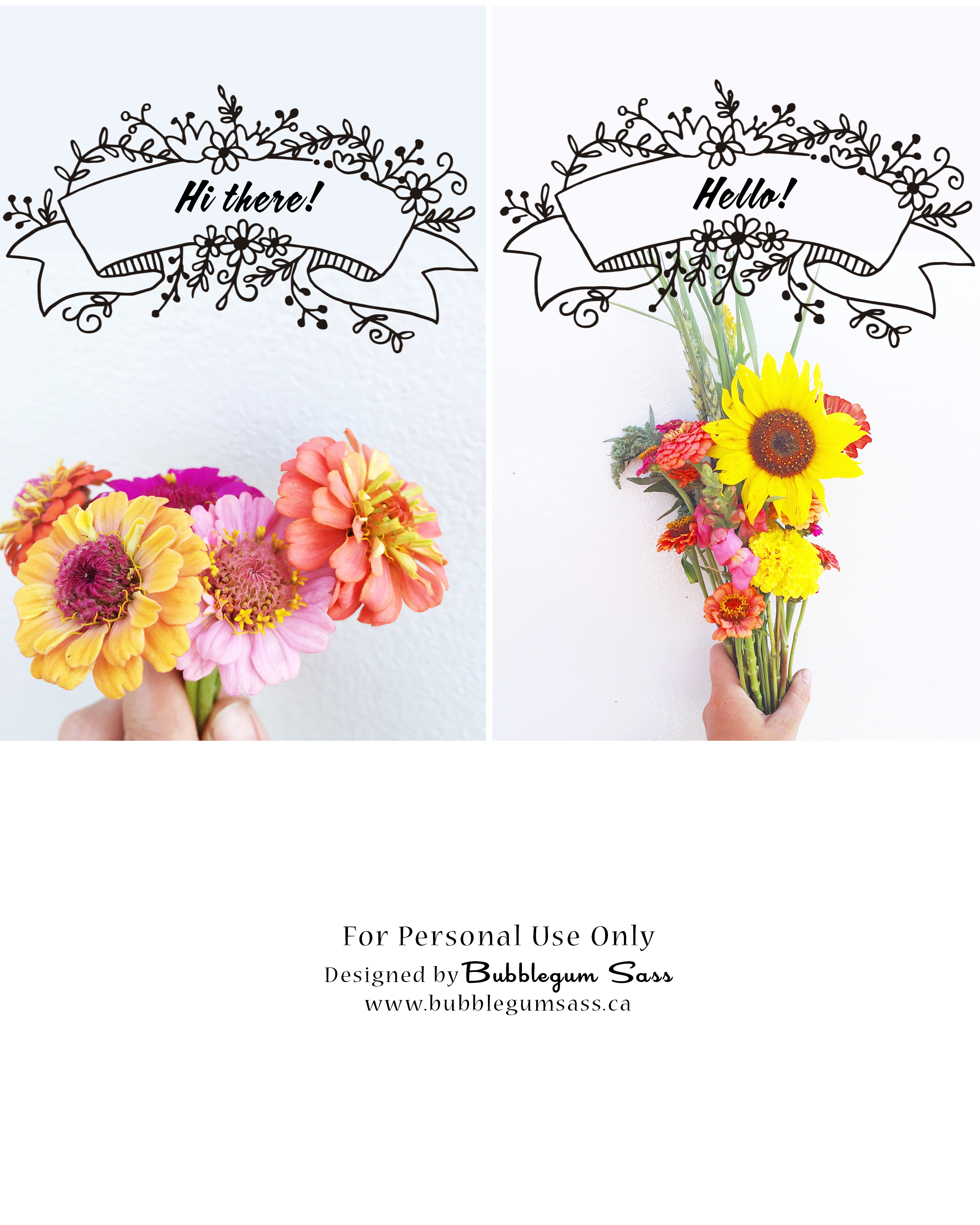 Welcome Spring! With free flower postcard printables