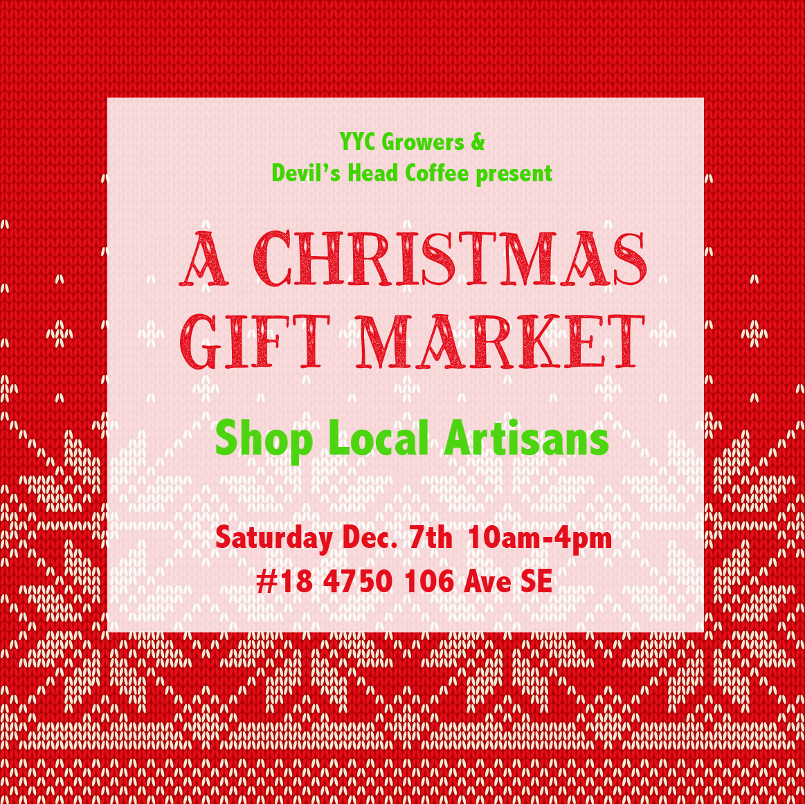 A Christmas Gift Market - Shop Local Calgary Artisans